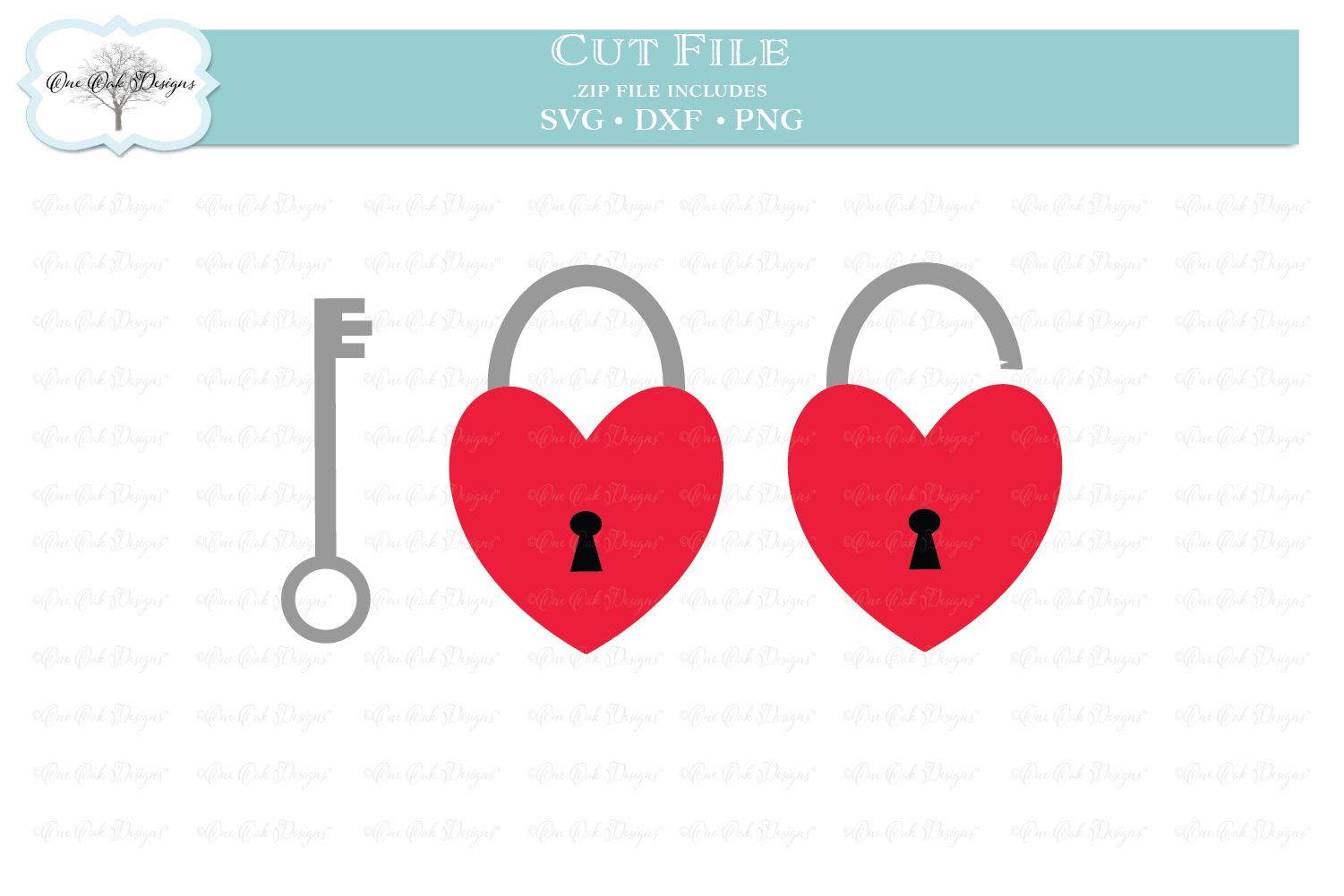 Heart Padlock with Key example image 1