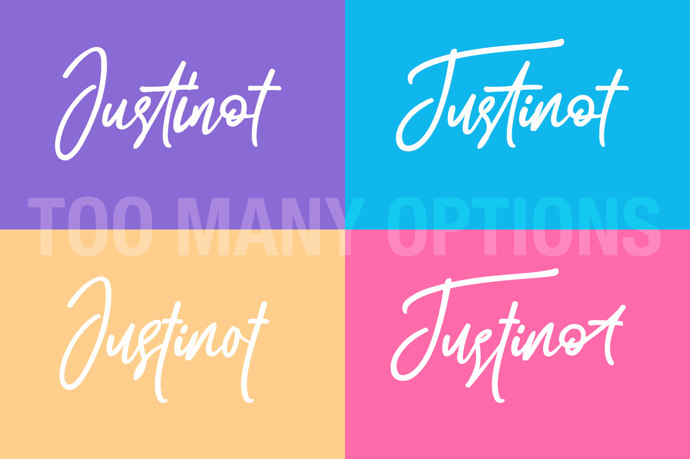Justinot Infinity Marker Font example image 3