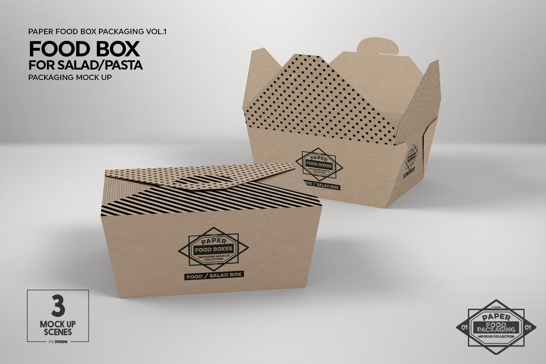 VOL.1 Food Box Packaging MockUps example image 7