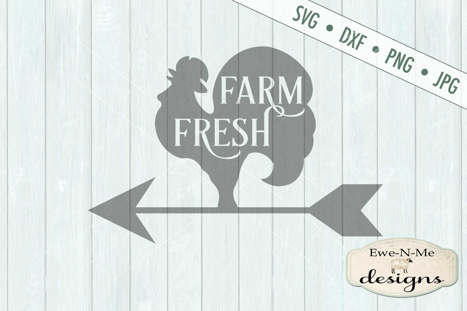 Farm Fresh Rooster Weathervane SVG DXF File example image 2