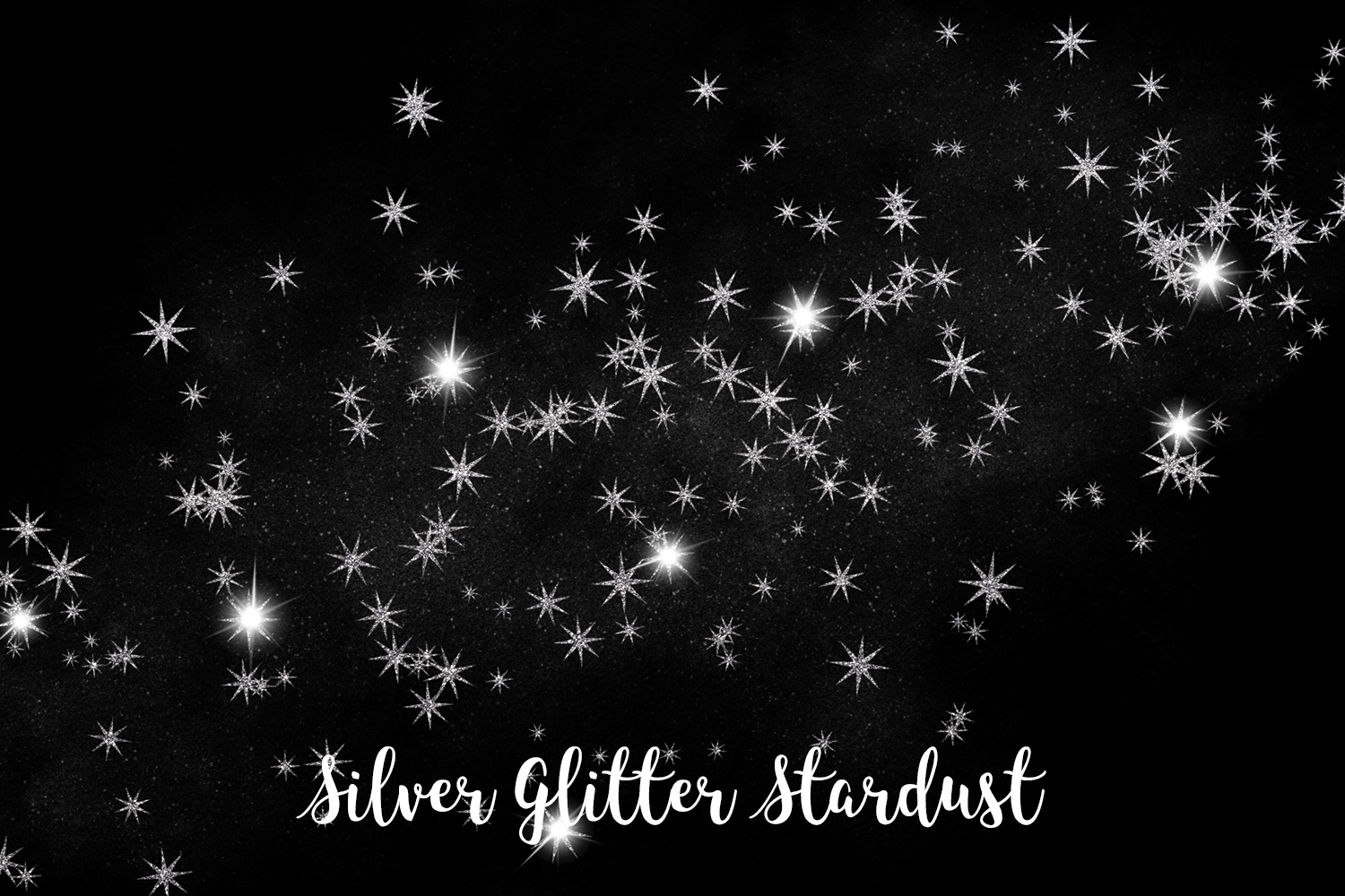 Silver Glitter Stardust, Transparent PNG example image 6