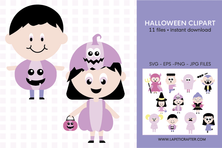 Cute Halloween clip art, halloween kids, halloween party png example image 6