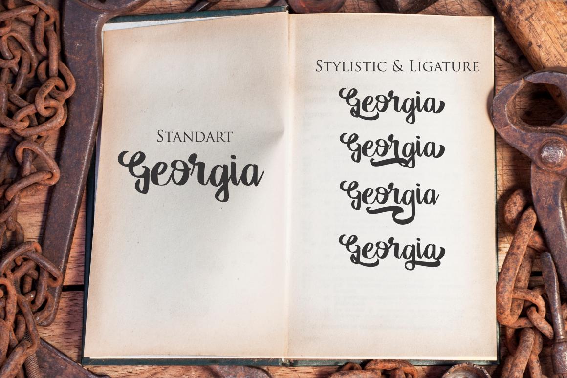 Georgia Script example image 2