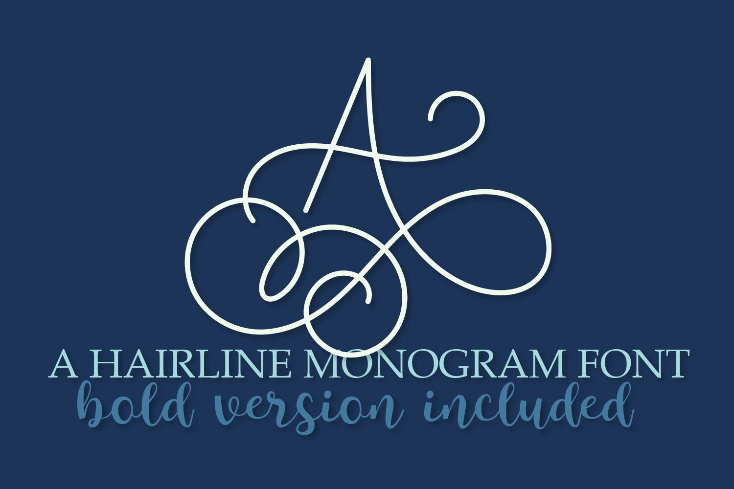 Hairline Monogram Font - Bold Version Included example image 1