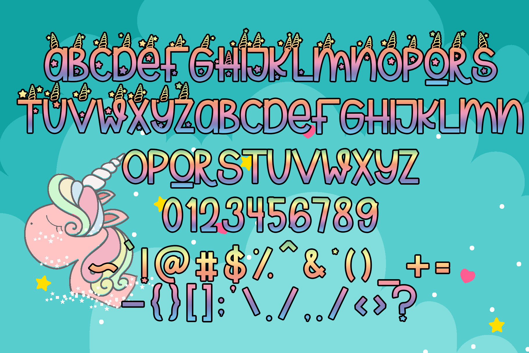 Unicorn Magic - Magical Typeface example image 6