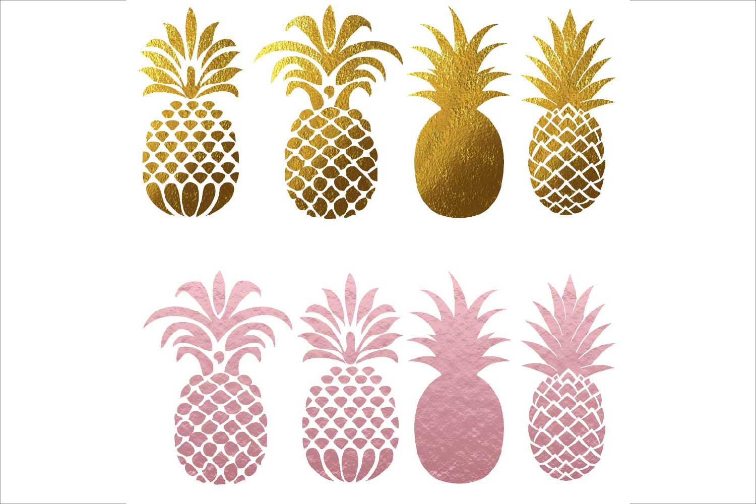 Pineapple Silhouettes Clipart example image 4