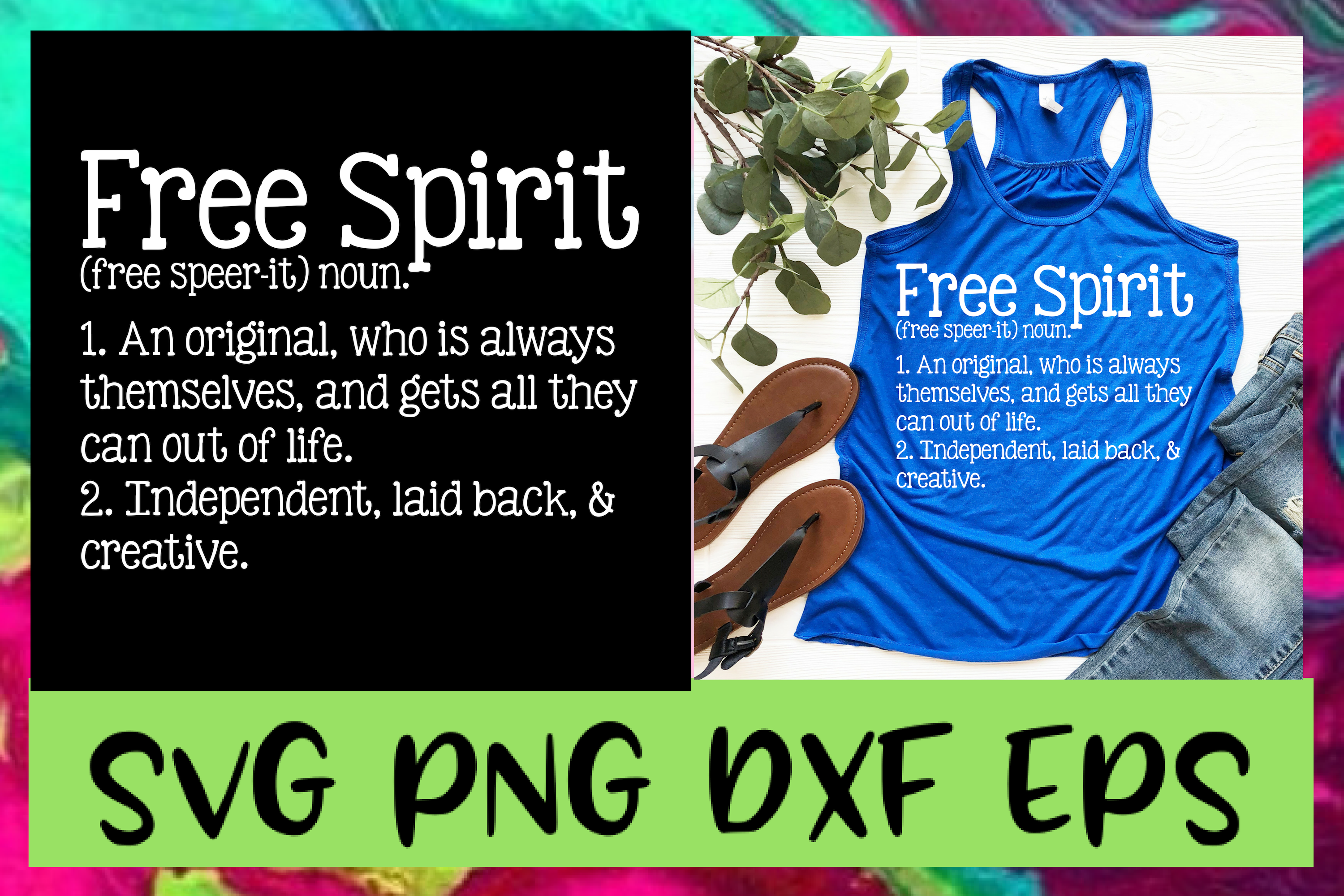 Free Spirit Definition SVG PNG DXF & EPS Design Files example image 1