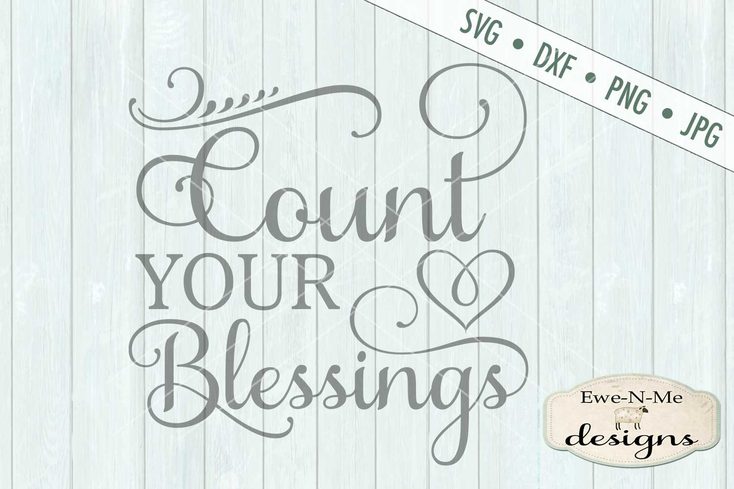 Count Your Blessings SVG DXF Cut File example image 2