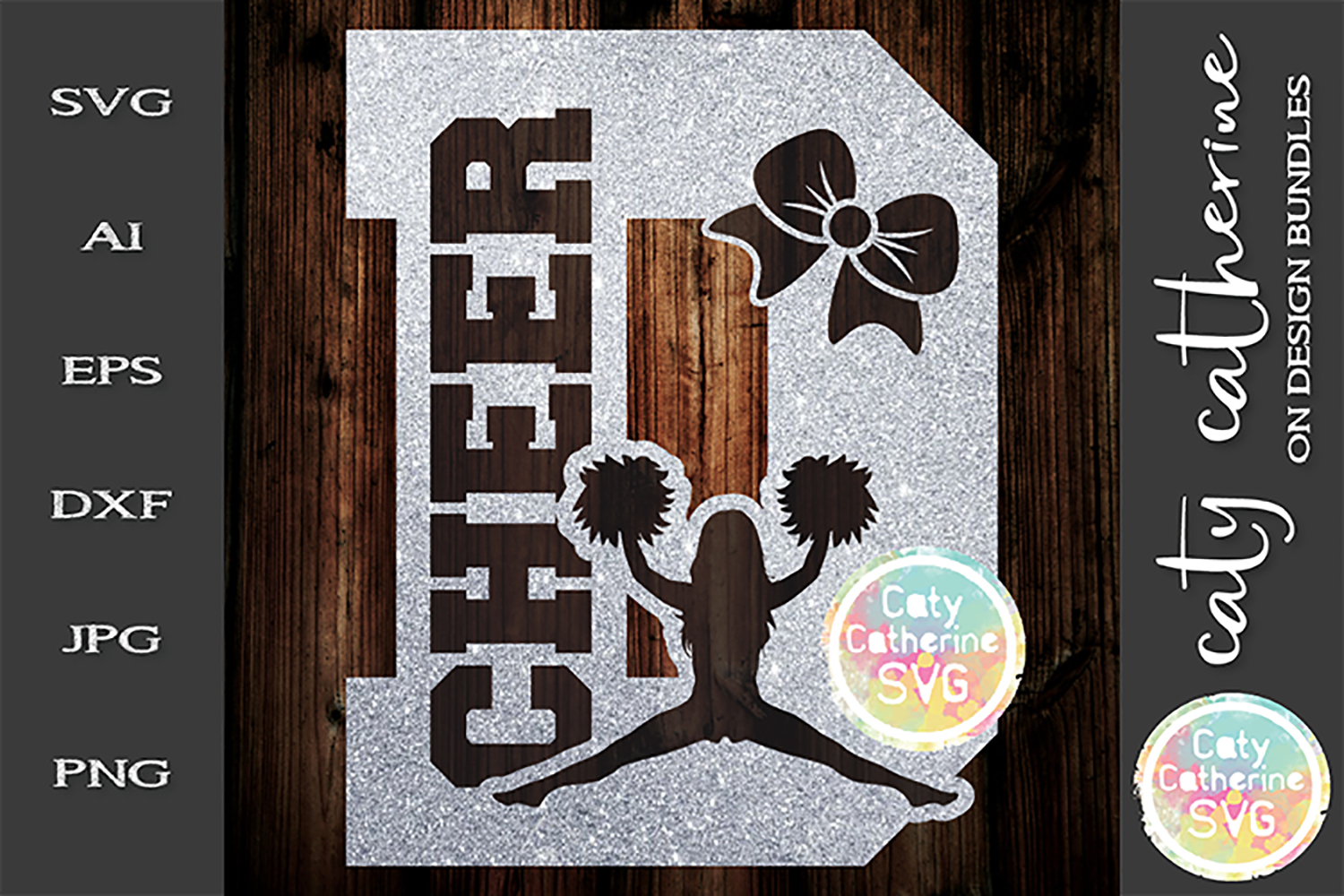 Letter D Cheerleading Monogram Letters SVG Cut File example image 1