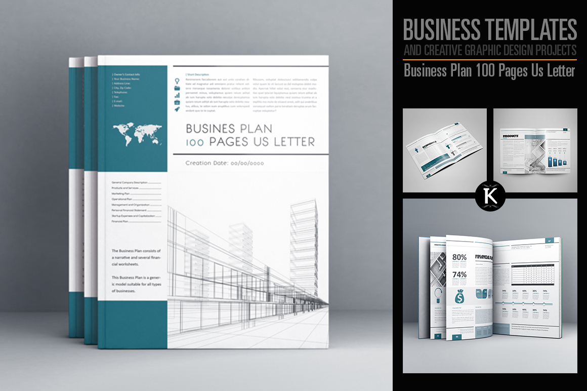 Business Plan 100 Pages Us Letter example image 1