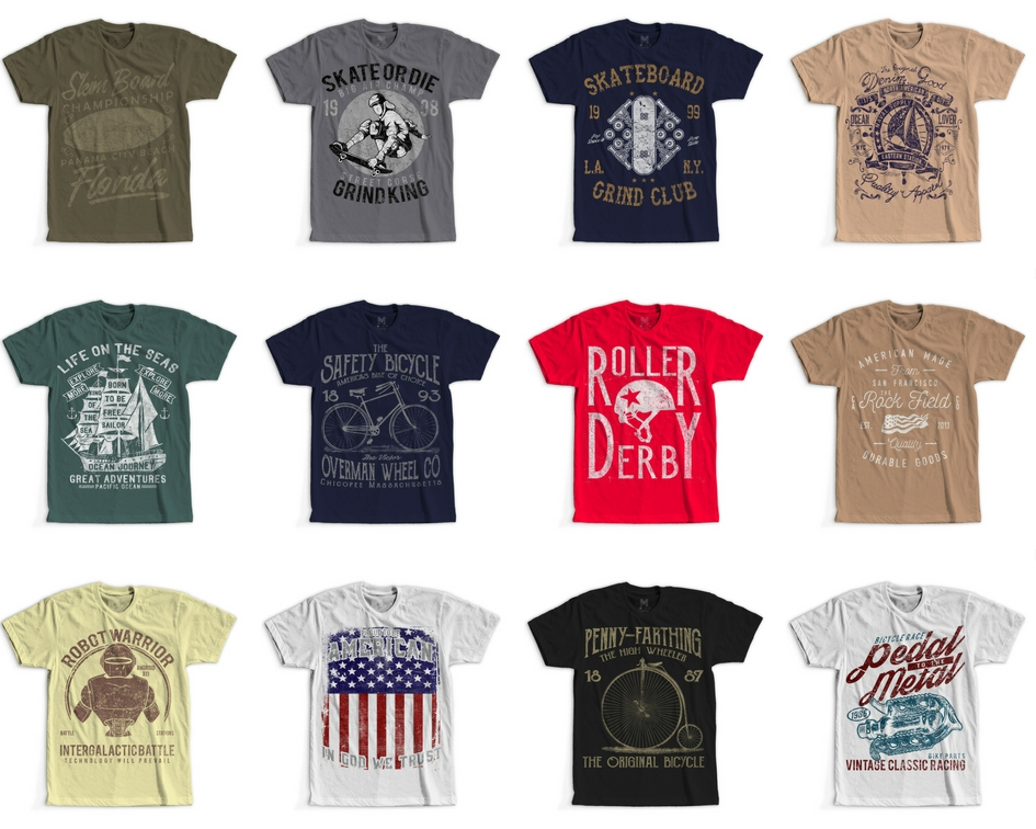 8c05c9fee 100 Retro Vintage T-Shirt Designs example image 7
