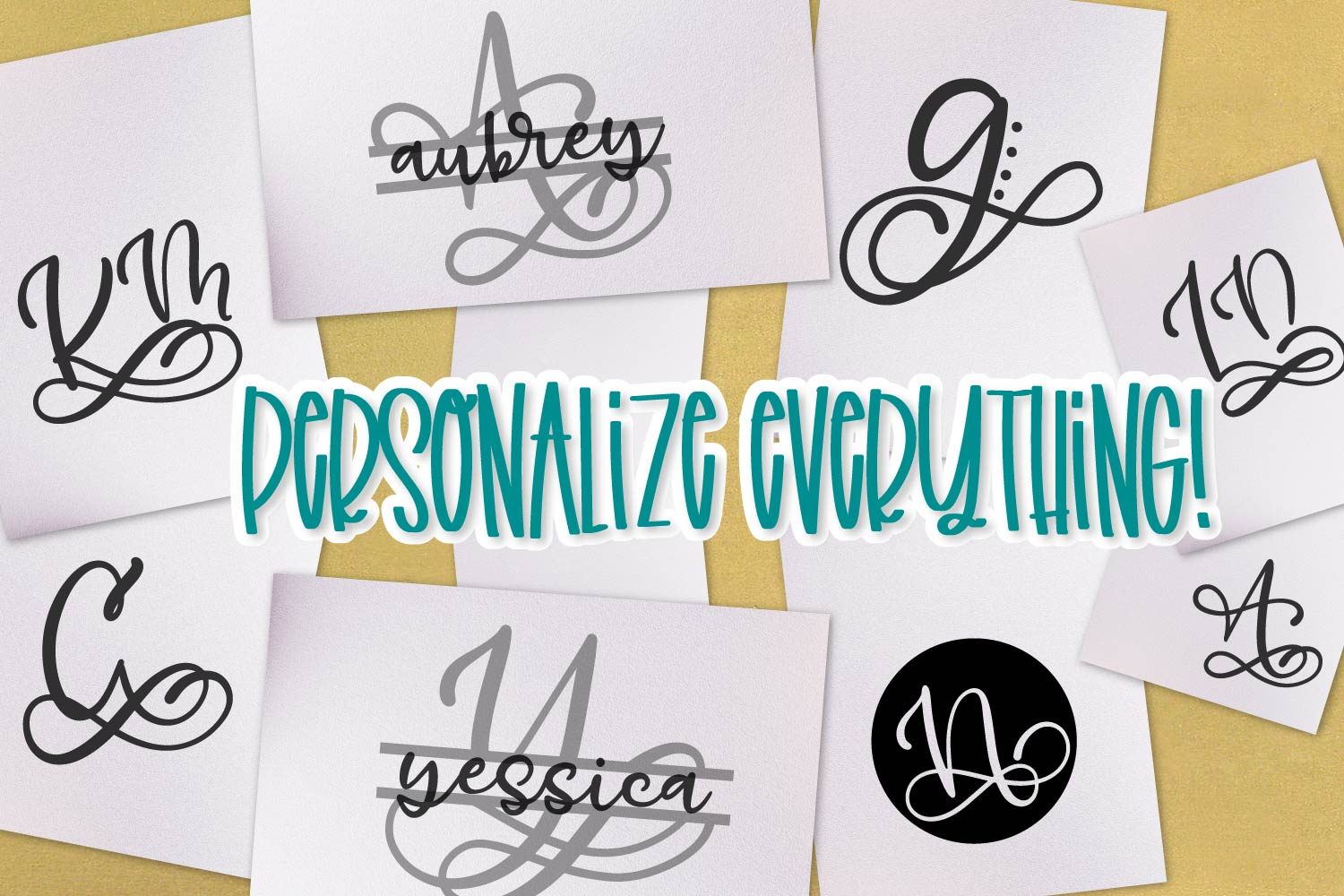Monogram Bundle - FIVE Styles Including a Split Monogram! example image 9