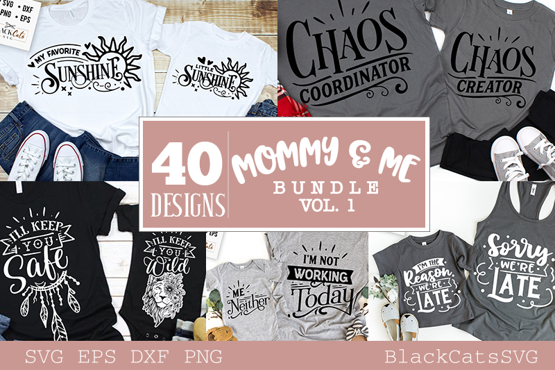 Mommy and me SVG bundle 40 designs vol 1 example image 3