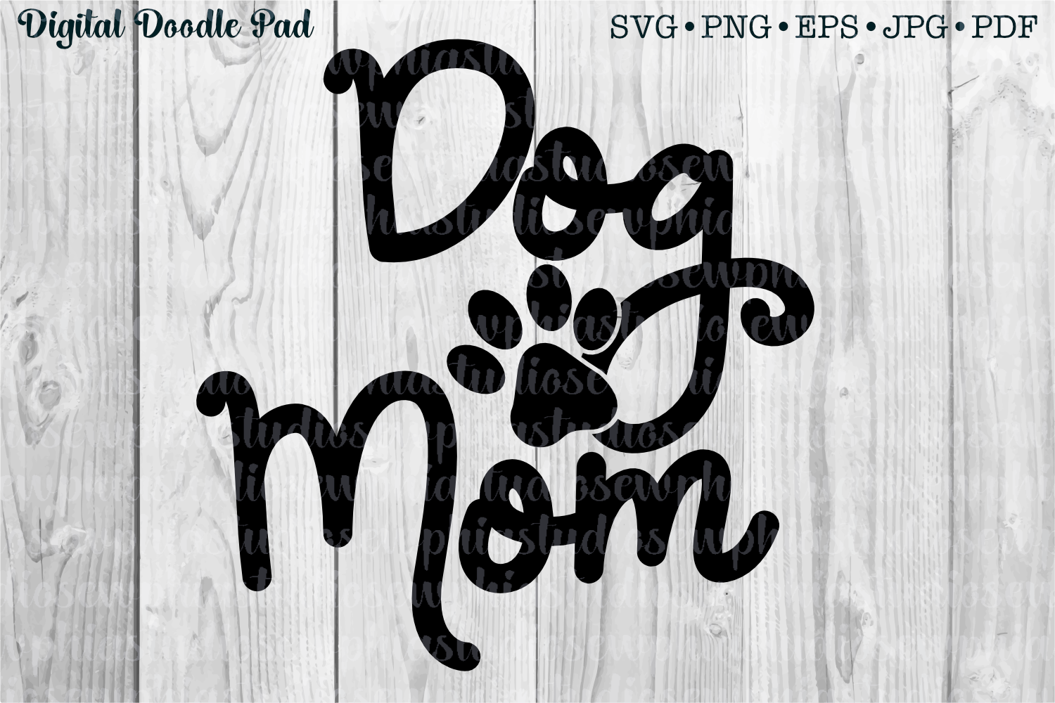 Dog Mom by Digital Doodle Pad example image 1