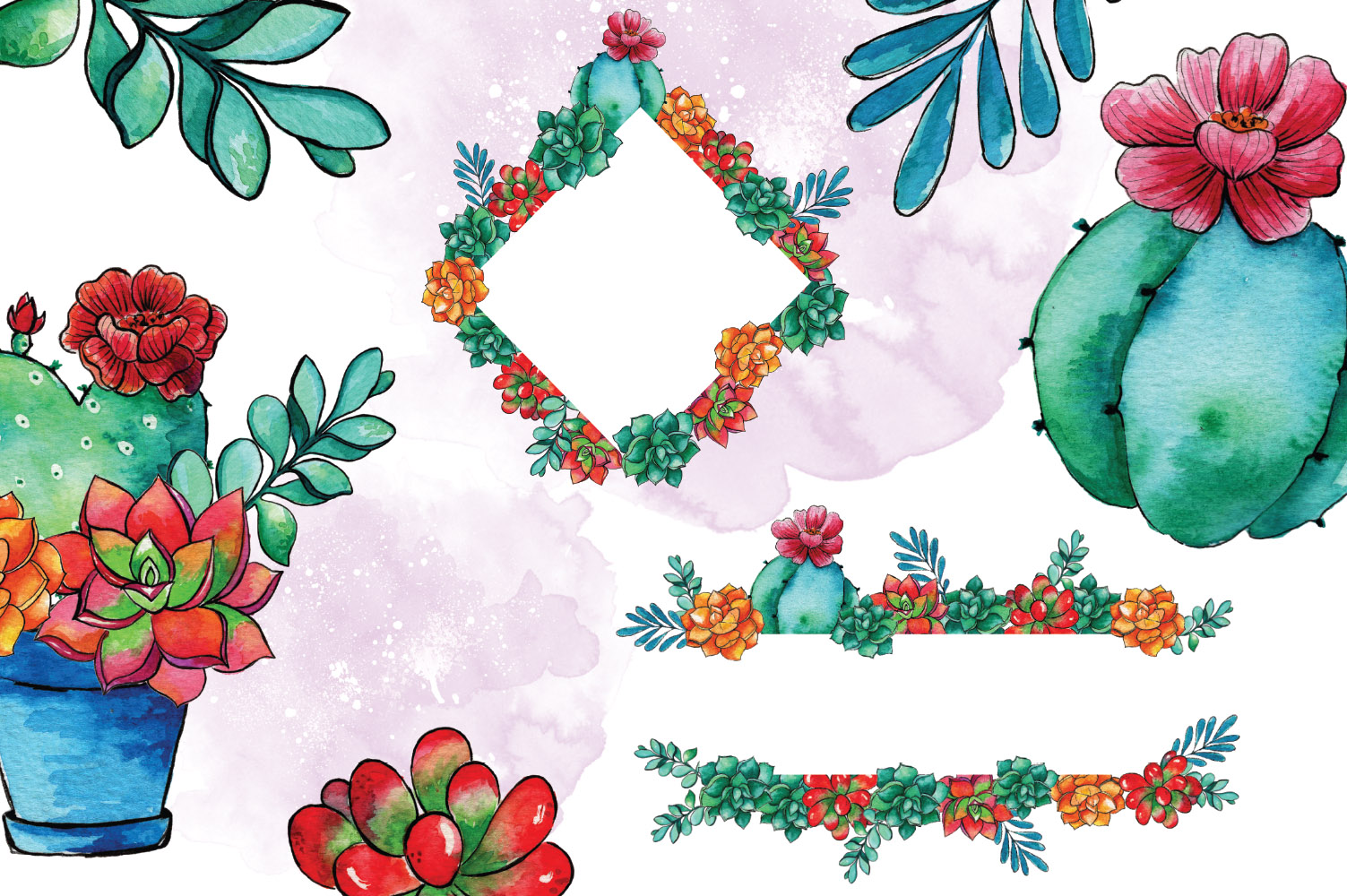 Cactus Blossom Clip Art example image 4