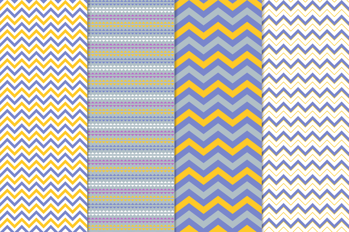 16 Vector Seamless Patterns - Set 1 example image 5