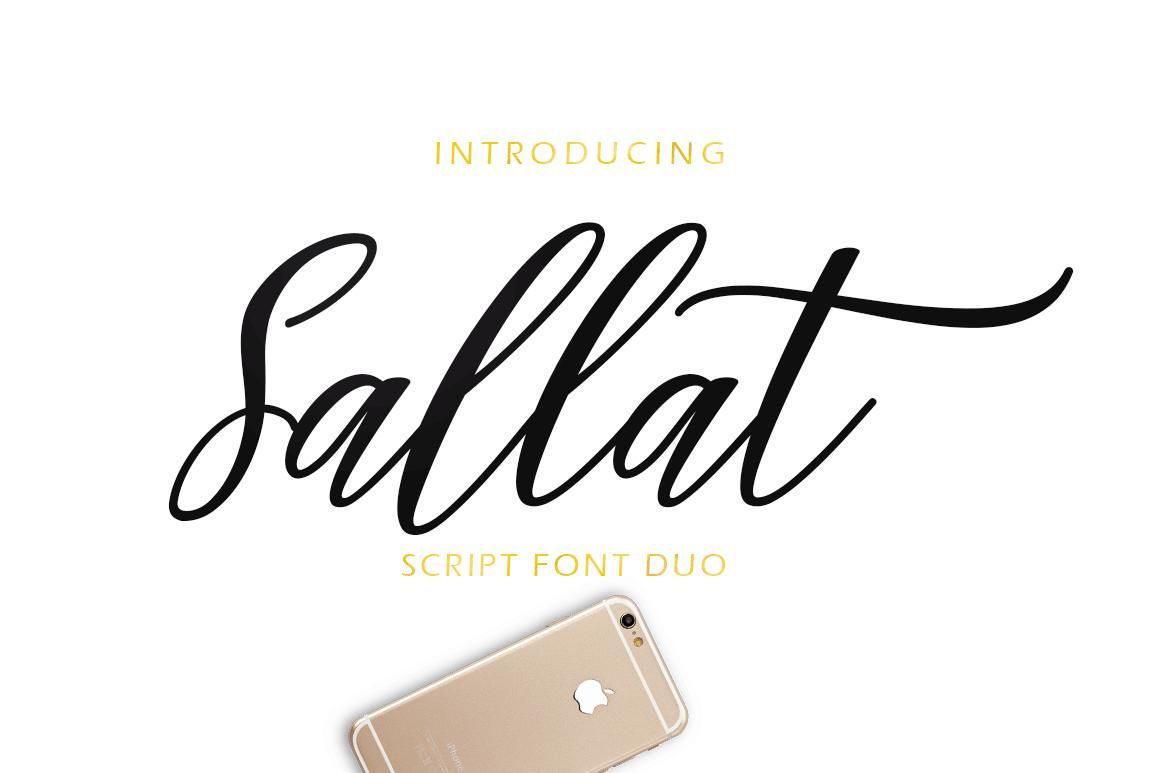 Sallat Font Duo example image 1