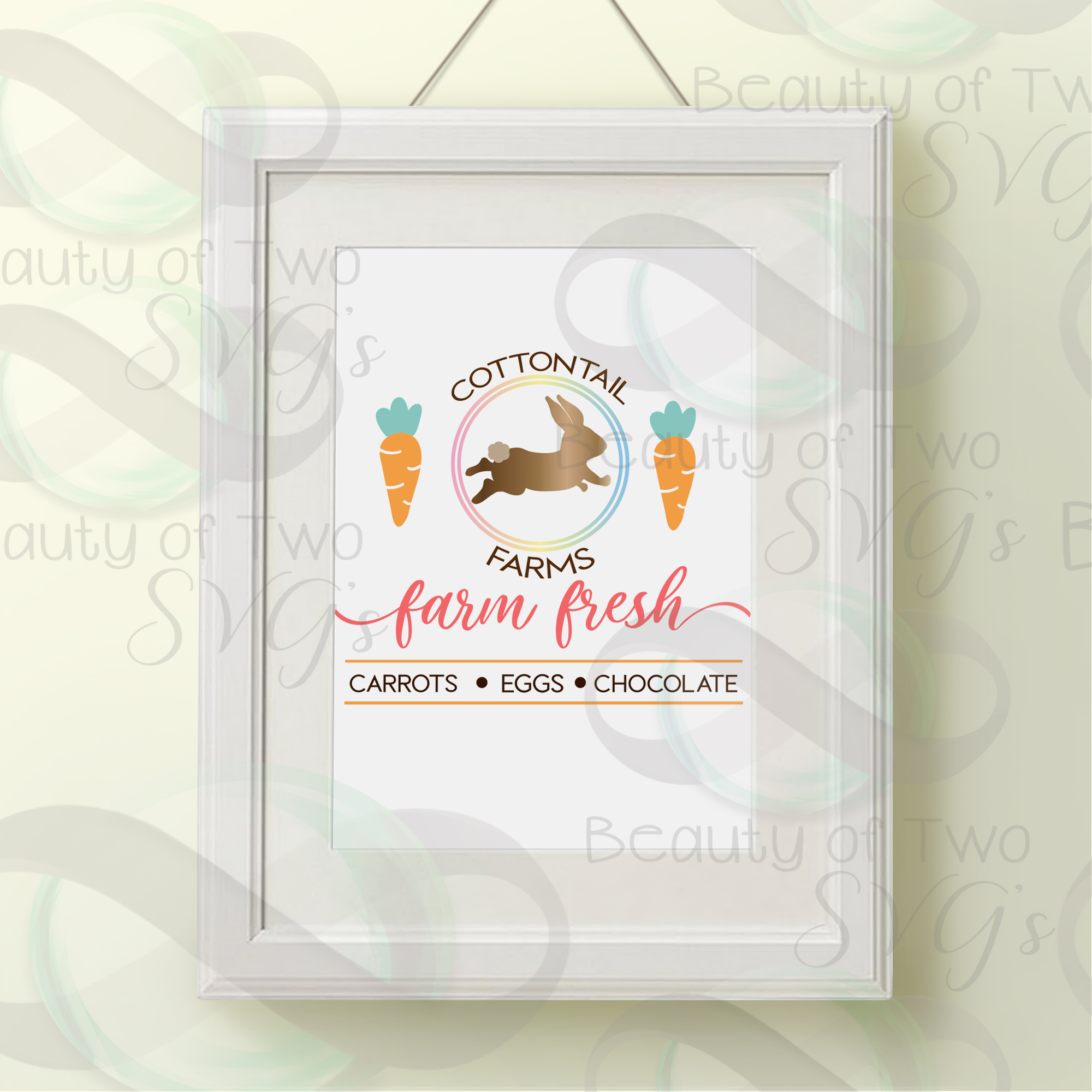 Cottontail Farms svg & png, Farmhouse Easter svg example image 3