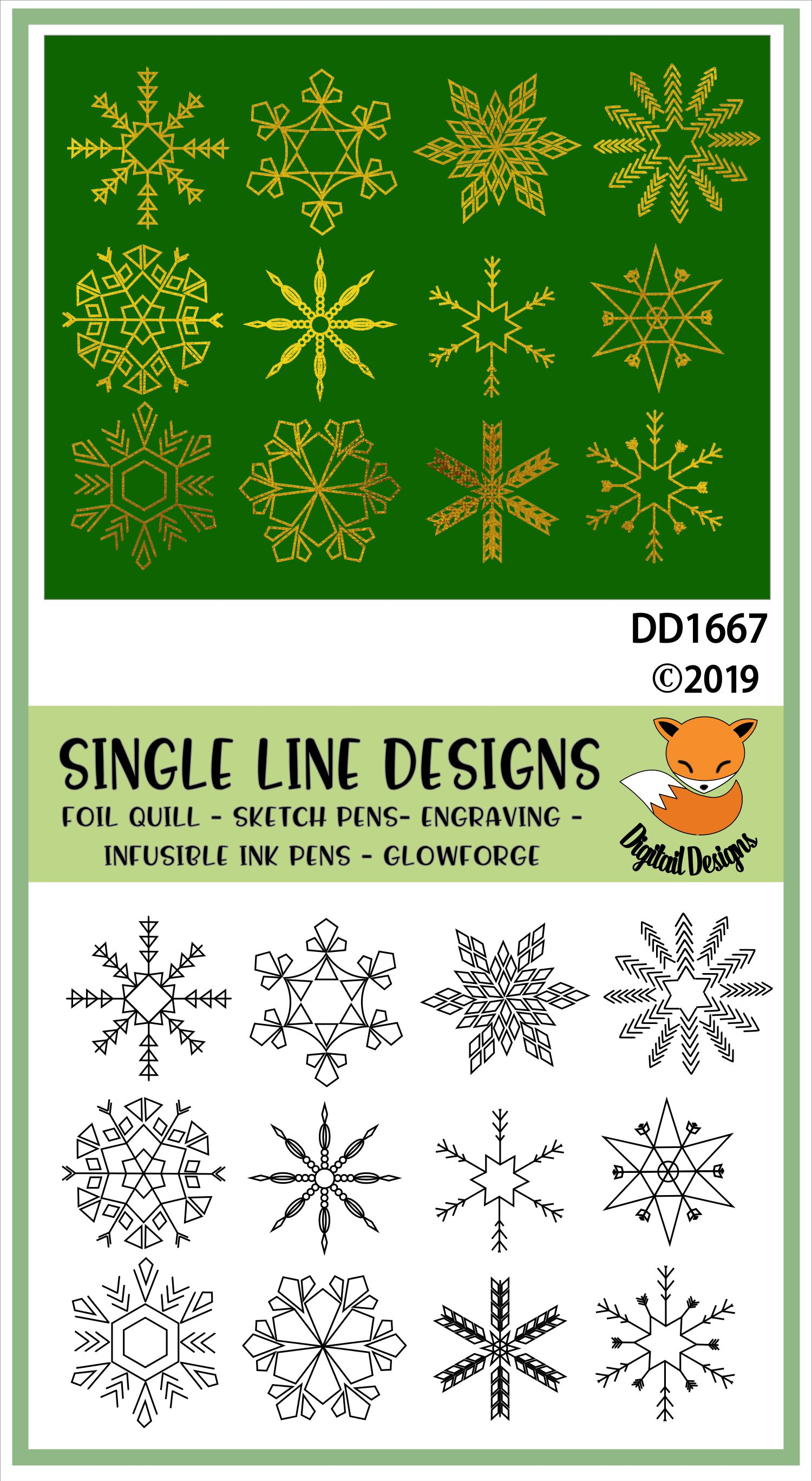 Foil Quill Snowflake Bundle example image 2