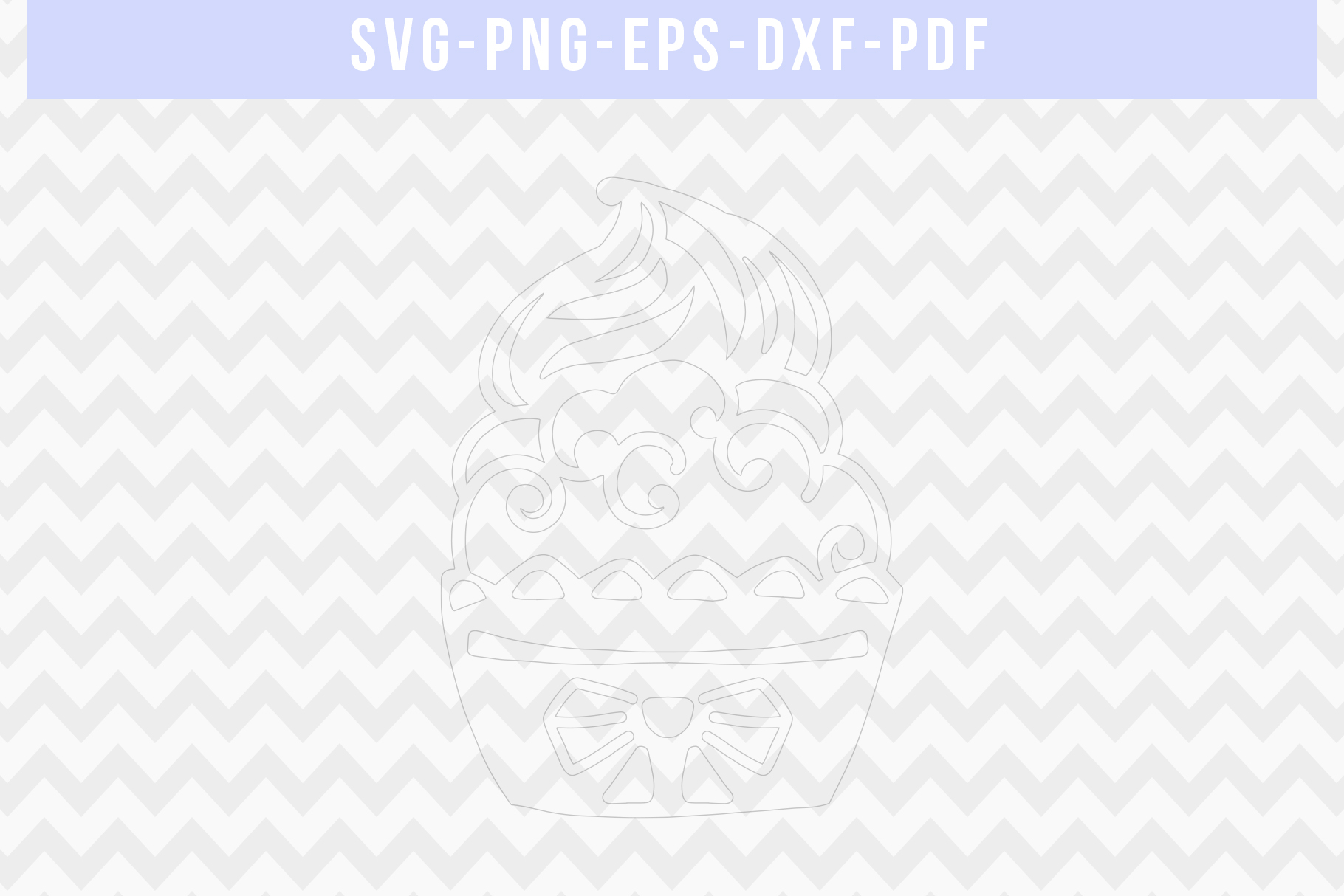Cute Cupcake Papercut Template, Birthday Cut File SVG, DXF example image 2