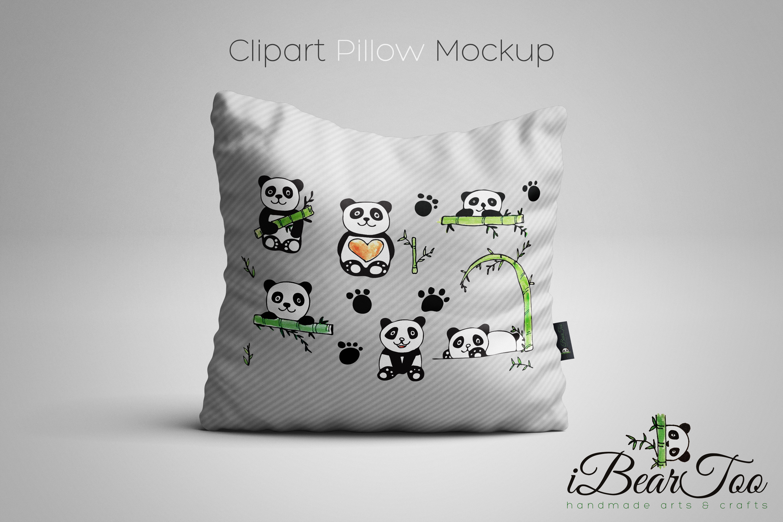 Panda SVG Bundle Watercolor Clipart Bear Drawing Vector example image 2