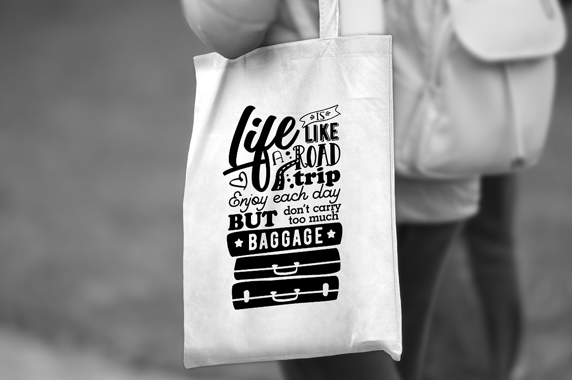 Life is like a Road Trip - Vector Typography Design example image 4