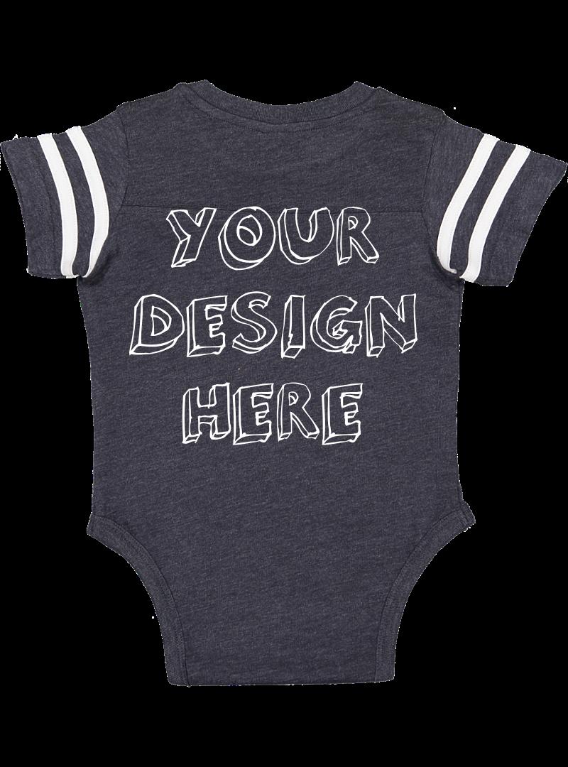 Infant Football Bodysuit Mockups - 12 |PNG|Front/Back - V2 example image 3