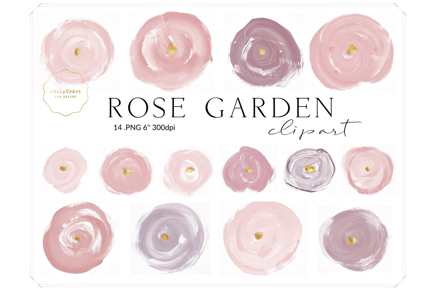 Blush Pink Roses Clipart example image 1