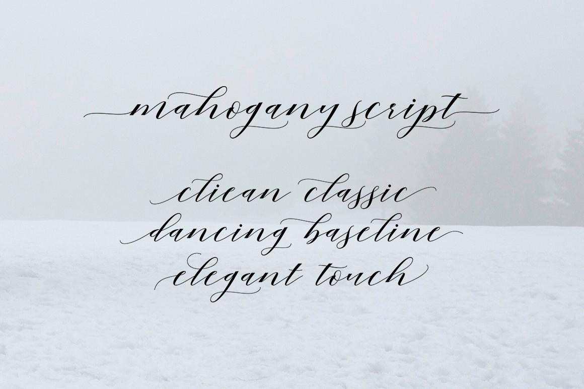 Mahogany Script example image 2
