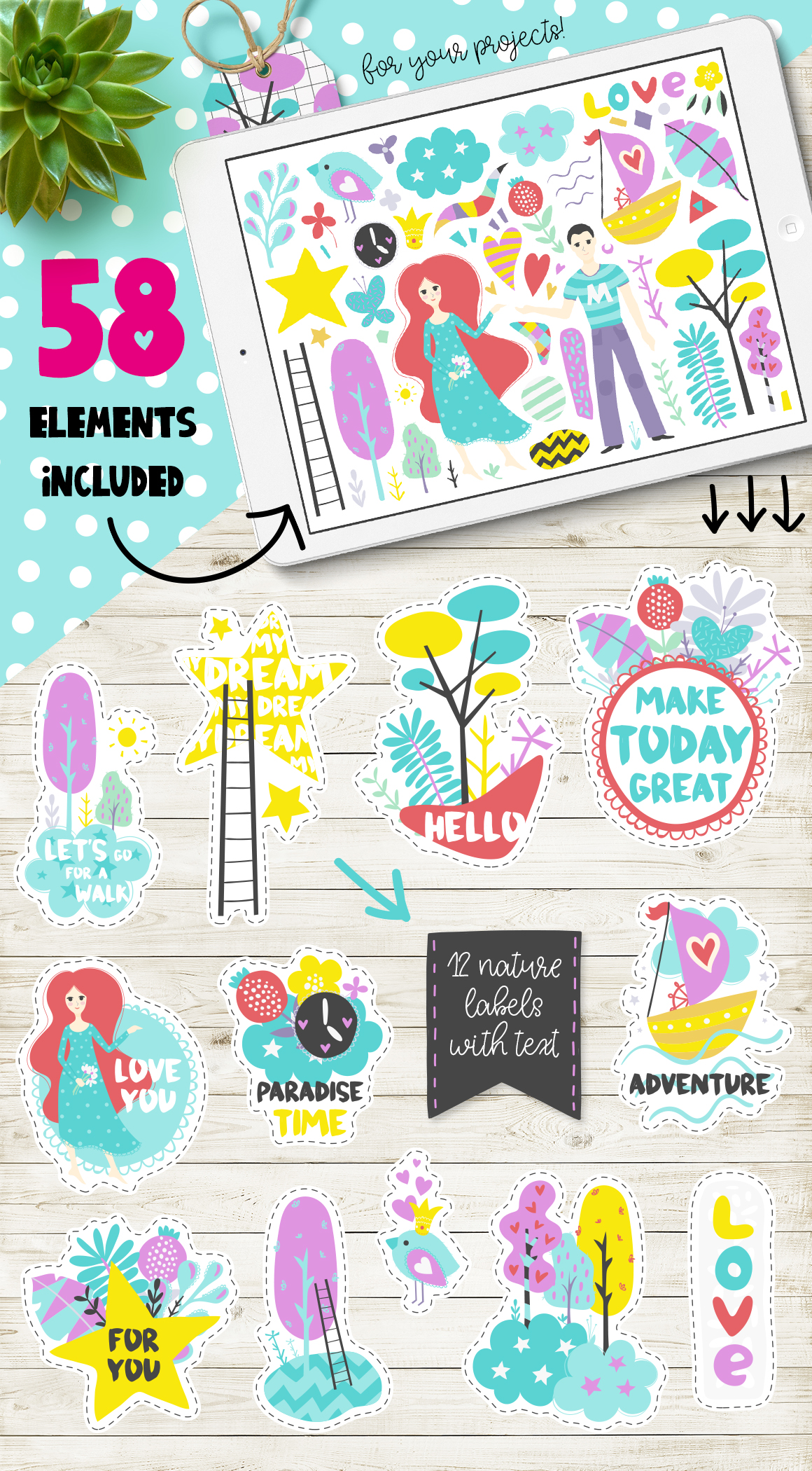 Make Today Great - Clipart Set example image 2