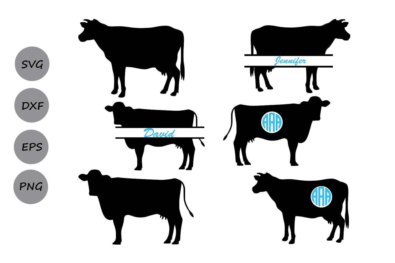 Download Cow SVG, Cow Monogram Svg, Farm animal cow, Cow Cut File ...