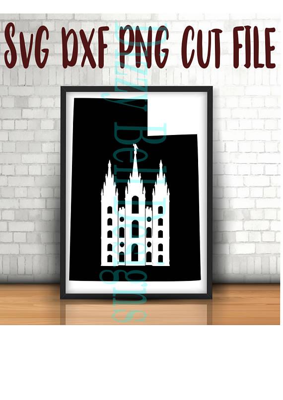 UTAH Salt Lake City Mormon Temple, Digital Instant Download File. Svg, dxf, png Silhouette, Cricut, Plotter UT, LDS, Temple Square, Historic example image 1