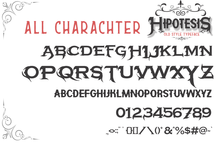 Hipotesis Old Style Typeface example image 4