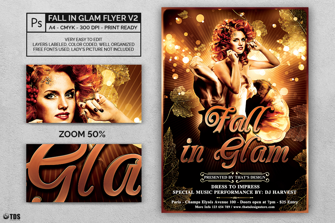 Fall in Glam Flyer Template V2 example image 2