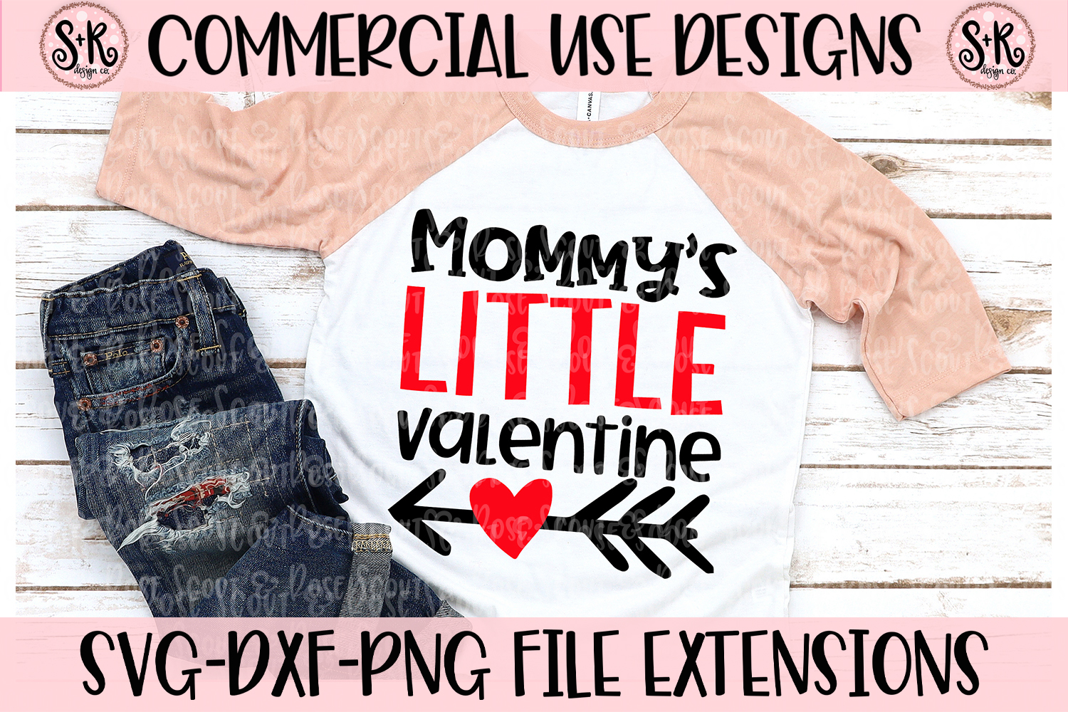 Mommy's Little Valentine SVG DXF PNG example image 1