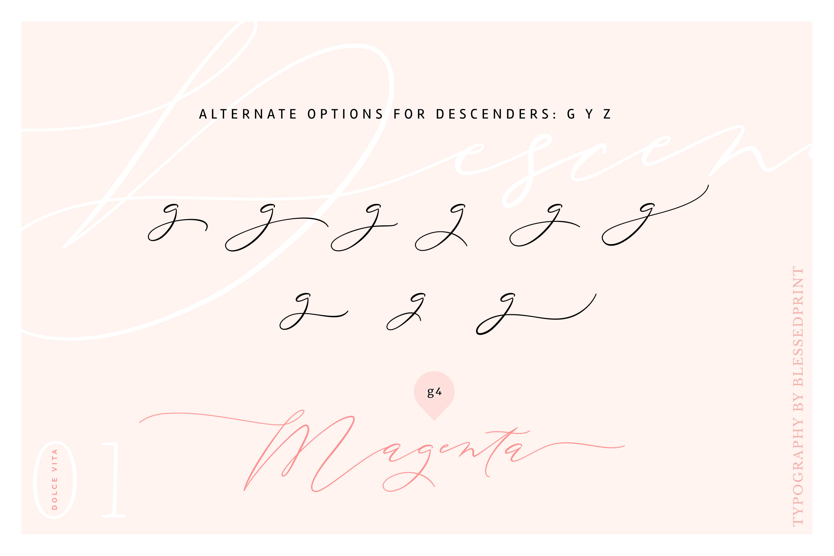 DolceVita - luxury font family with 50 ligatures example image 7