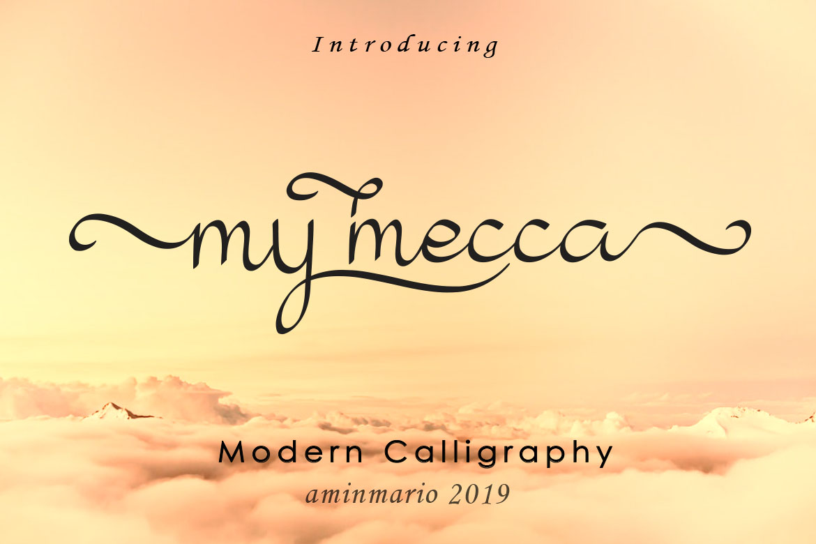 My Mecca   Modern Calligraphy example image 11