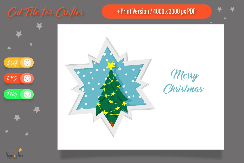 Christmas Star Paper Cut - Christmas Tree example image 1