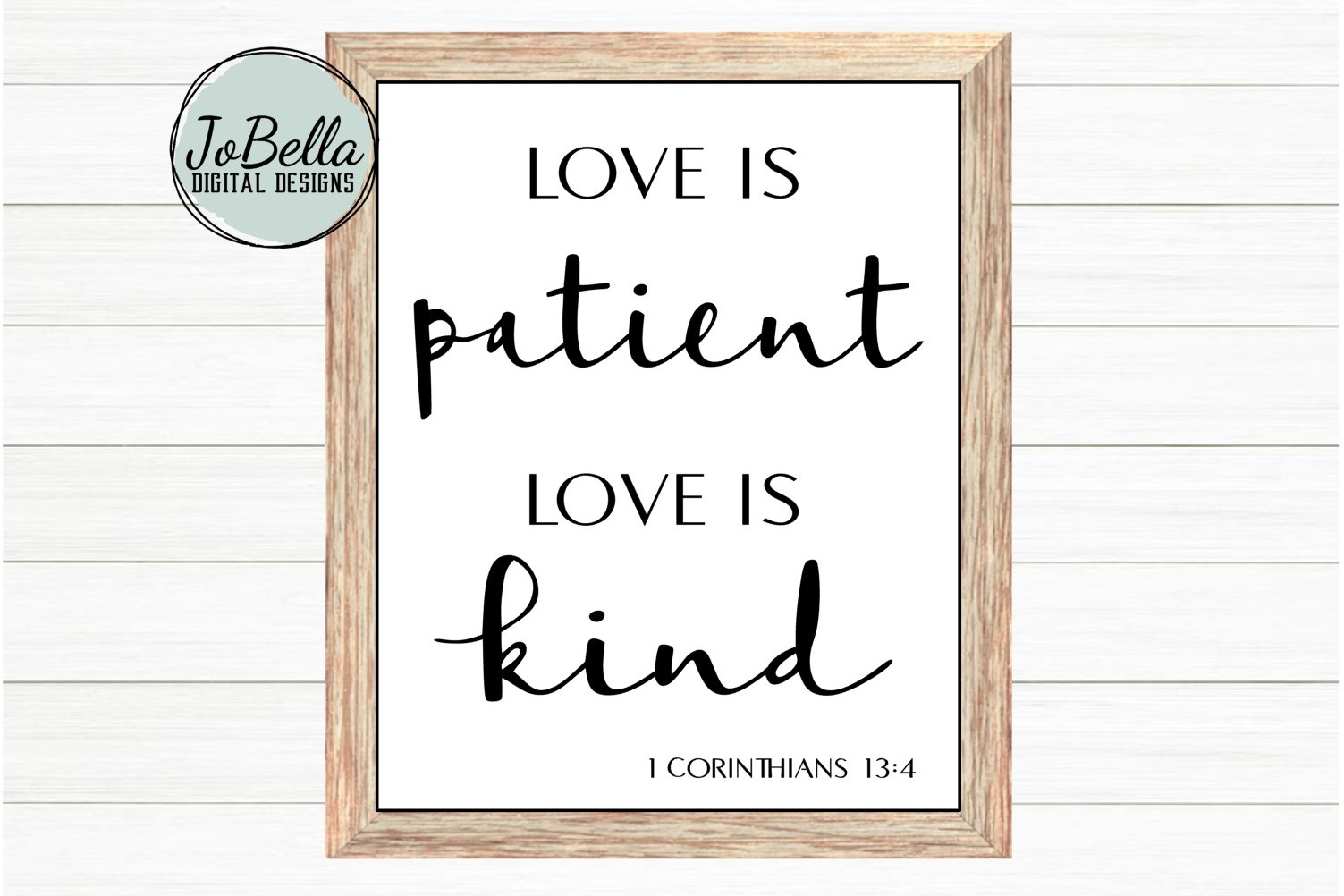 Corinthians Love Is Patient Love Is Kind SVG and Printable example image 1