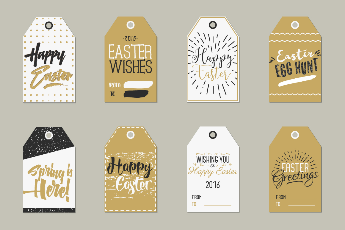 Easter Gift Tags Collection example image 2