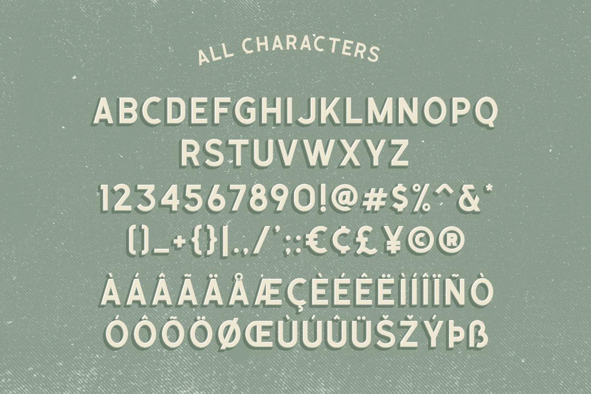 Calasans 7 Layered Font example image 7