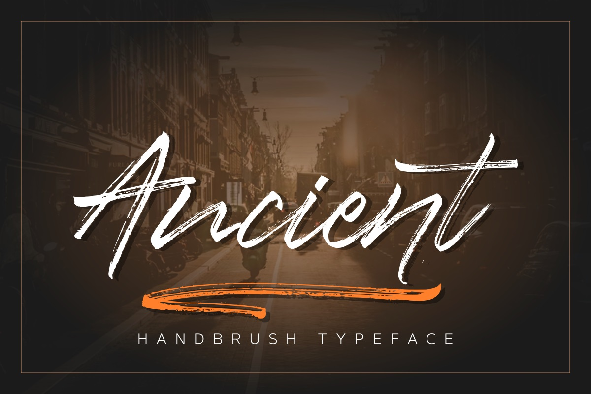 Ancient Handbrush Typeface example image 1