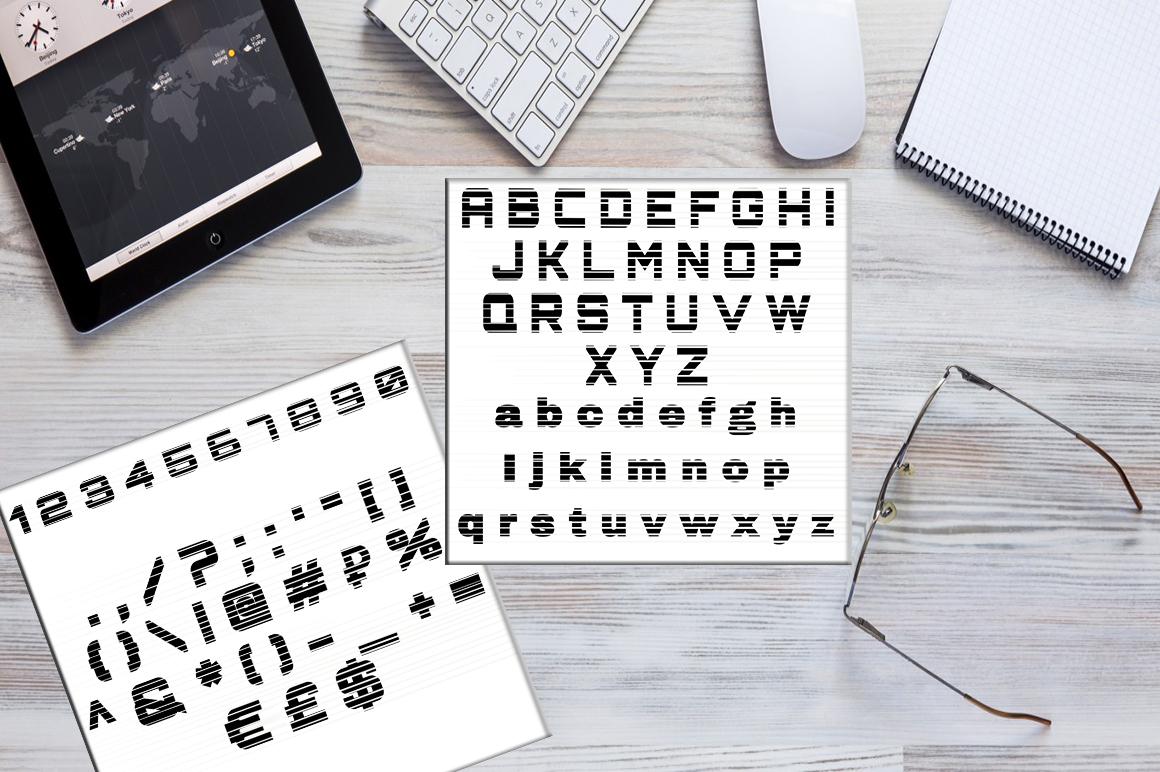Horizon script, font example image 3