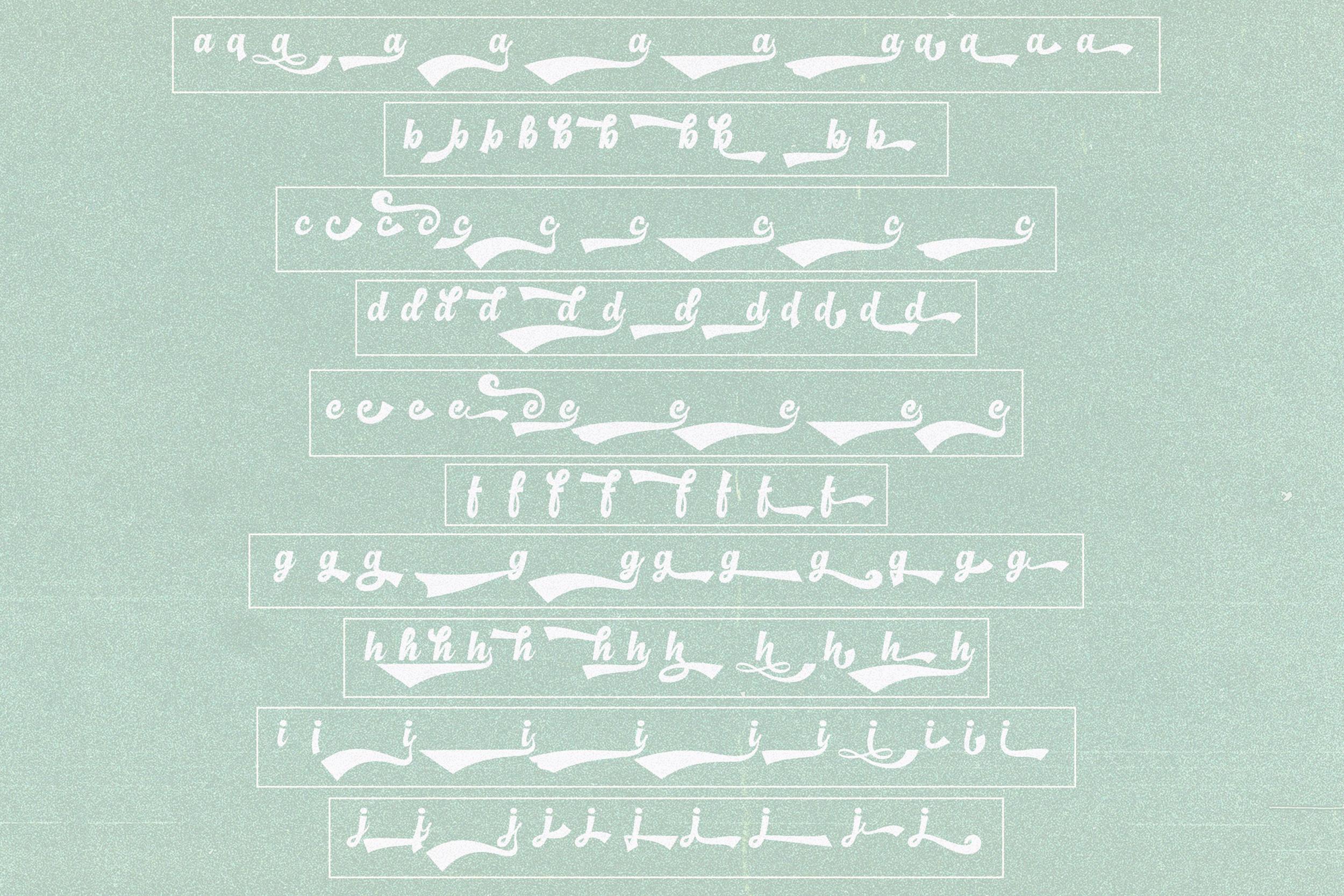 Basuki Script Font example image 11
