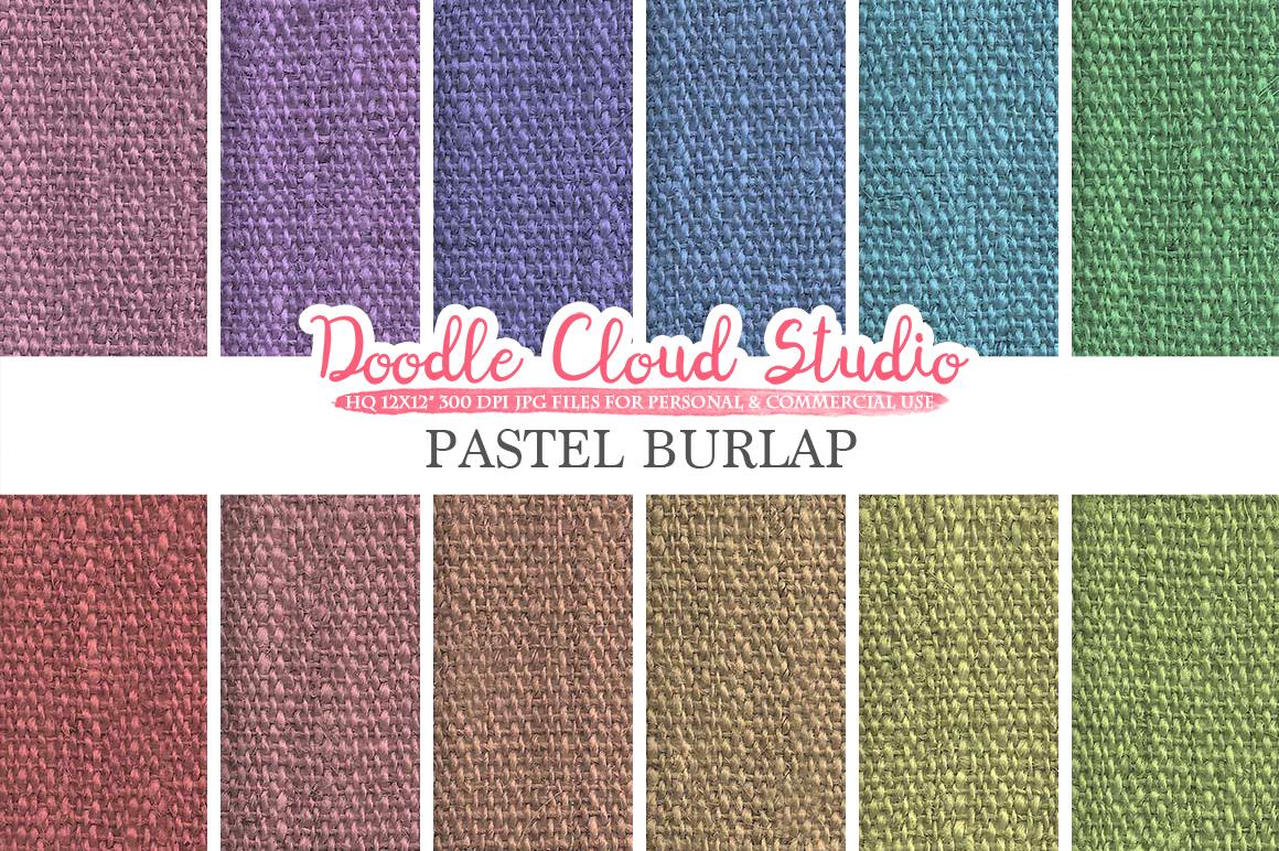 Pastel Burlap Fabric digital paper pack, pastel colors Backgrounds, Burlap linen printables, Instant Download for Personal & Commercial Use example image 1
