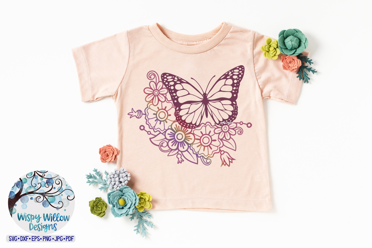 Floral Butterfly Bundle SVG |Butterfly and Flowers SVG example image 3