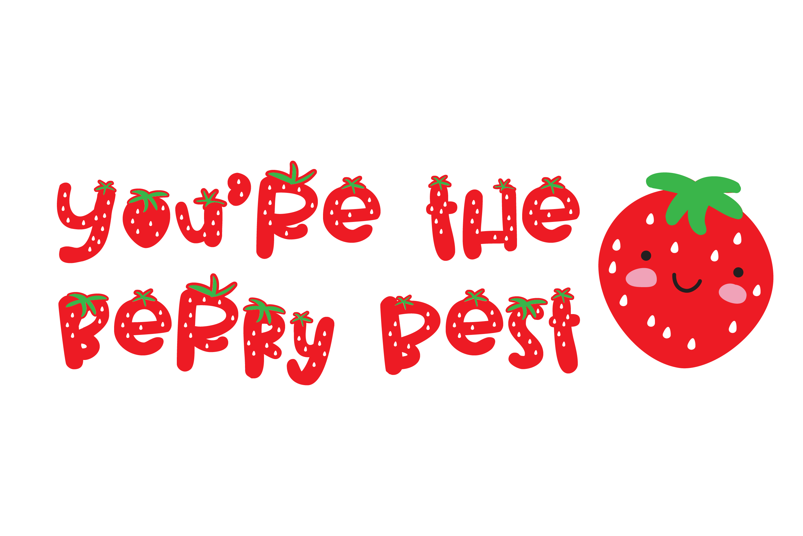 PN Strawberry Pillow example image 2