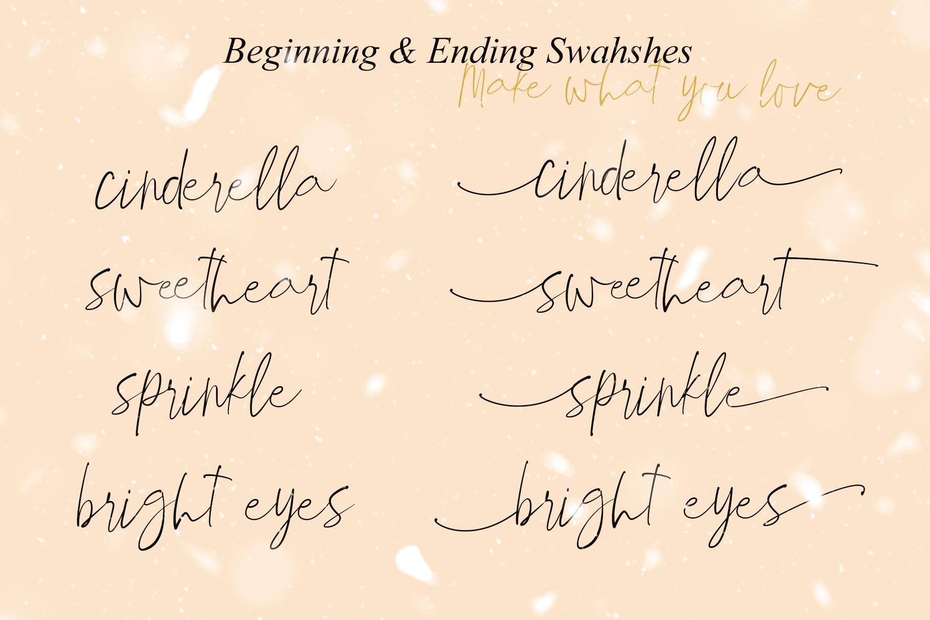 Winter Paradise - Modern Script example image 10