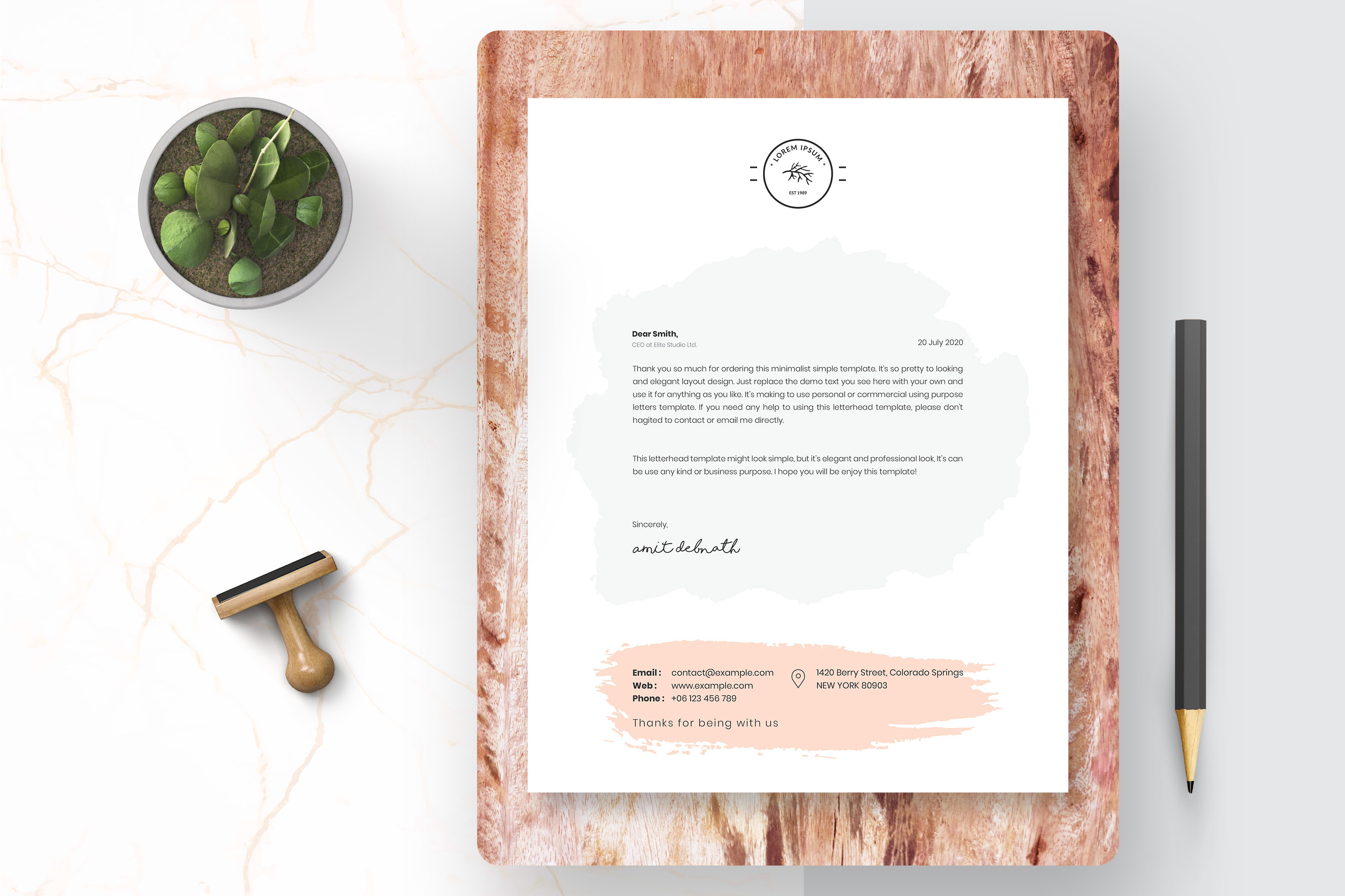 Modern Letterhead Template example image 2
