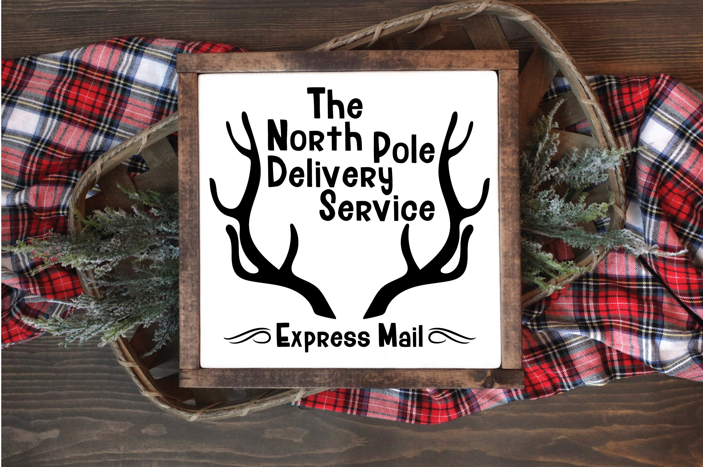 Christmas SVG Cut File - North Pole Delivery Service SVG DXF example image 2